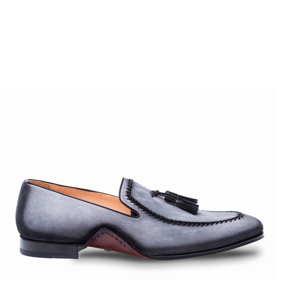 Mezlan Plazza Gray Loafer Shoes (PLAZZA-8452-GRAY)