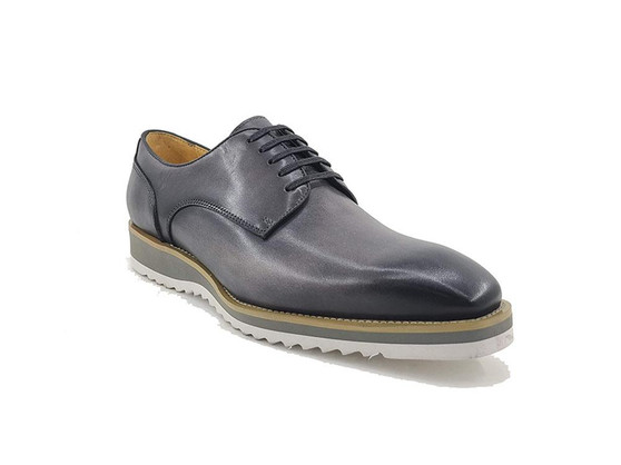 CARRUCCI LEATHER CASUAL GRAY DRESS SNEAKERS (KS515-26-GRAY)