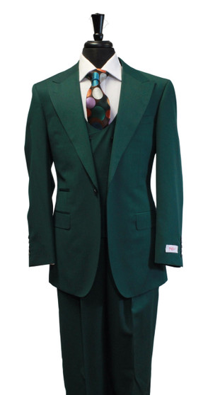 Tiglio Rosso Luca Forest Green 3 Piece Suit (R899612/4501)