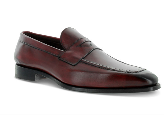 Emilio Franco Penny Loafer Burgundy Shoes