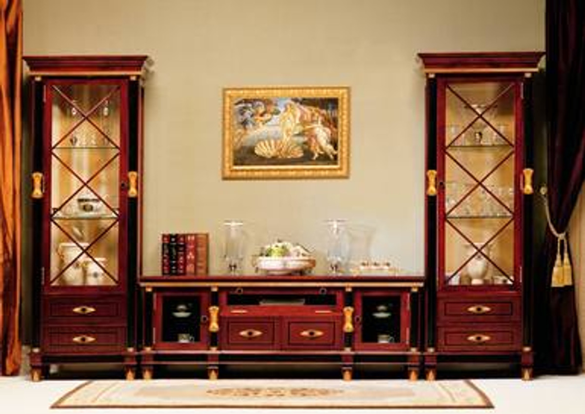 Gigasso Low Cabinet With Two Display Cabinets Mmfurniture Com
