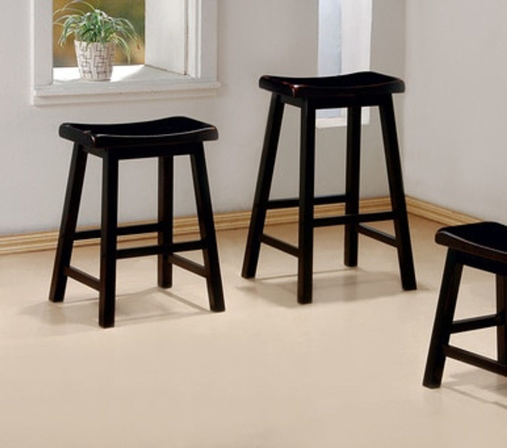 Awe Inspiring Dining Chairs And Bar Stools Black 24 Wooden Bar Stool Cjindustries Chair Design For Home Cjindustriesco