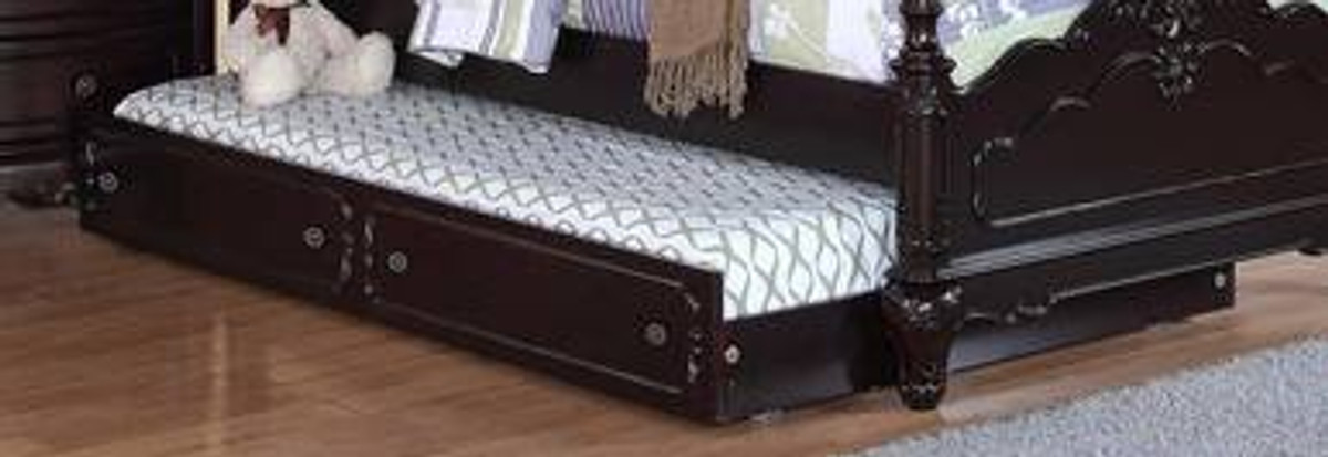 . Homelegance Cinderella Twin Trundle for Canopy Bed and Daybed   Dark Cherry