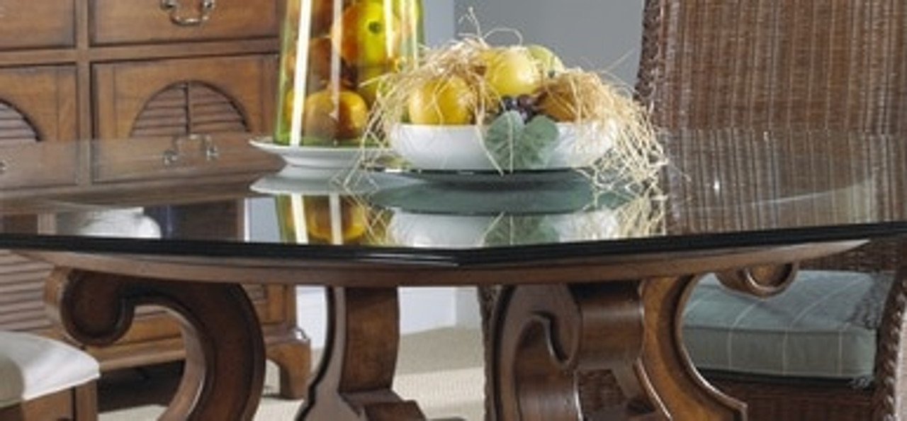Summer Home Round Dining Table Glass Top 60