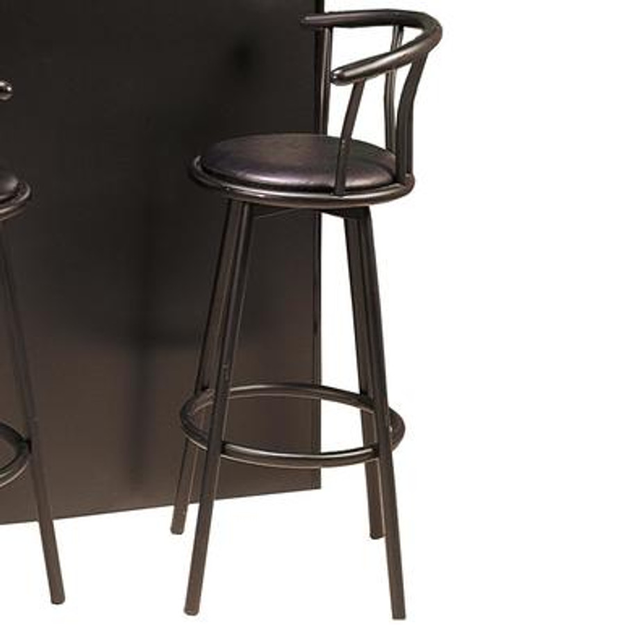 Fabulous Buckner 29 Casual Metal Bar Stool With Faux Leather Swivel Seat Theyellowbook Wood Chair Design Ideas Theyellowbookinfo