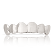 Polished Solid White Gold Teeth