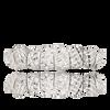 Polished Diamond Cut White Gold Teeth