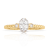 14K Yellow Gold Ladies Diamond Ring 0.25Ctw