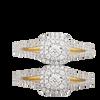 14K Yellow Gold Ladies Diamond Ring 0.38Ctw