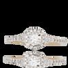 14K Yellow Gold Round Ladies Diamond Ring 0.33Ctw