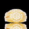 10K Yellow Gold Men's Diamond Ring 1.15Ctw