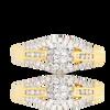 14K Yellow Gold  Ladies Diamond Ring 0.50Ctw