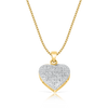 10K Yellow Gold Love Heart Pendant 0.25ct With Chain