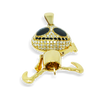 10K Yellow Gold King Jack Pendant 0.85ct with Chain