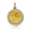 24K Gold Liberty Coin 0.90ct with Chain