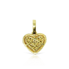 10K Gold Ladies Heart Pendant with 1.00ct Diamonds With Chain