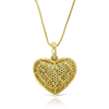 10K Gold Ladies Heart Pendant with 2.25ct Diamonds With Chain