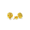 10K Yellow Gold 1.00 CT Baguette Diamond Round Earrings