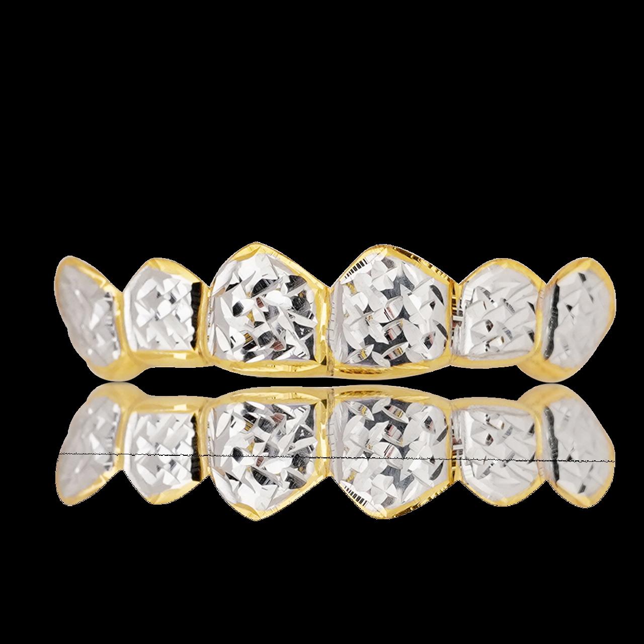 Polished Diamond Cut Yellow Gold Teeth