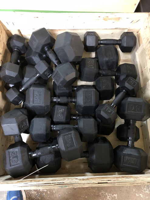 Dumbbells used 5-50 Hoist Hex Rubber Coated