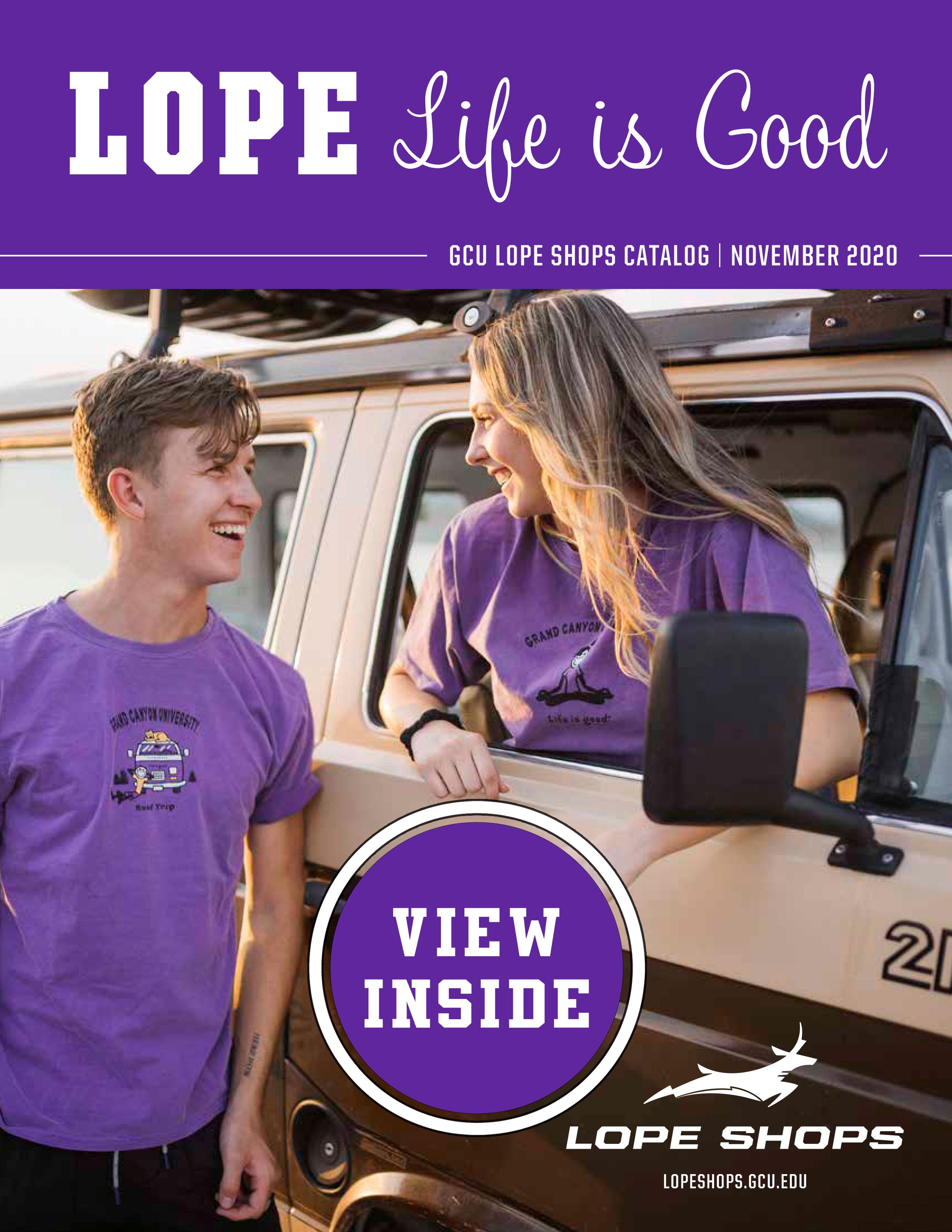 Lope Life, GCU Lope Shops Catalog Fall 2020