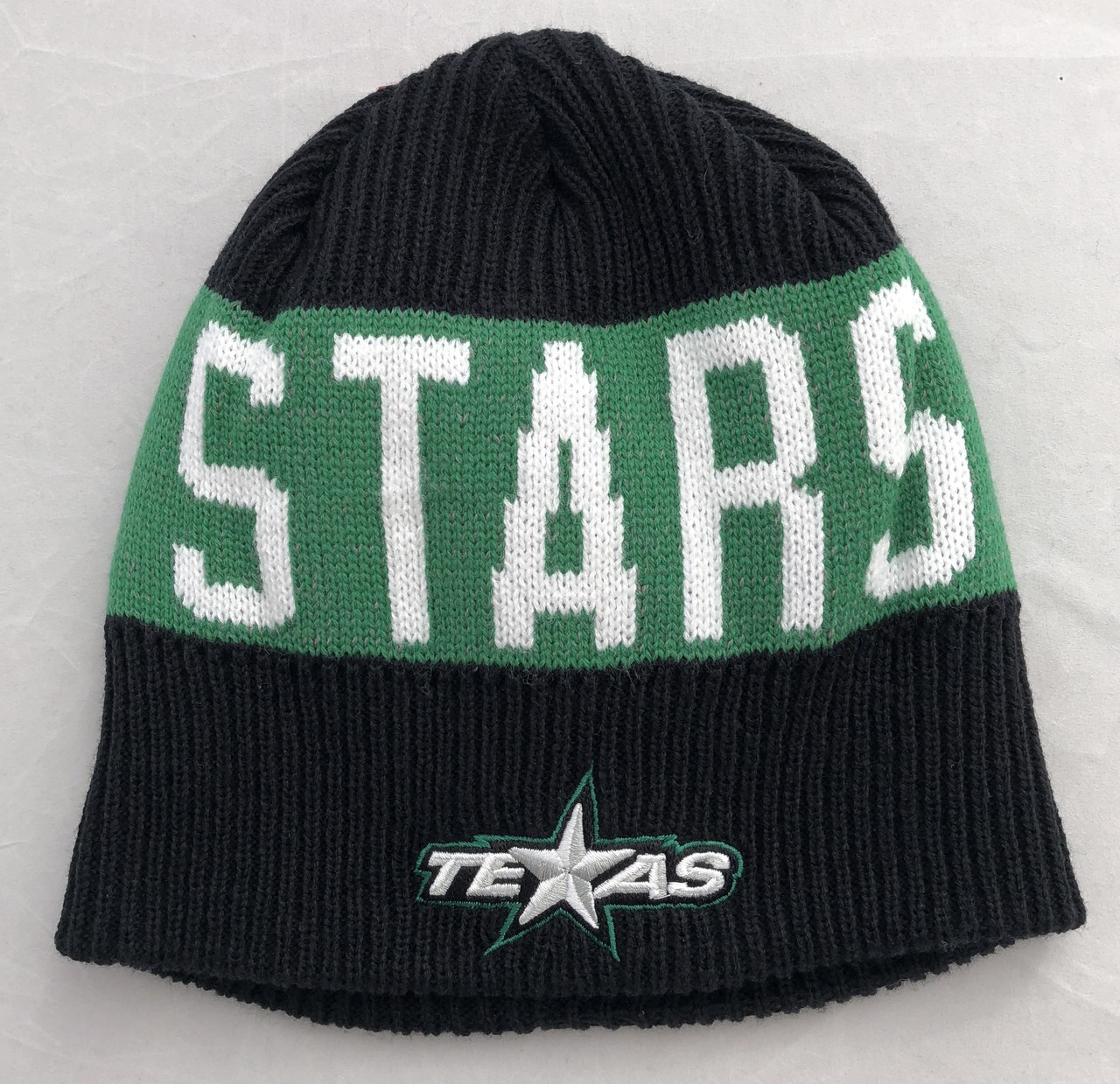 CCM Black and Green Ribbed Beanie - texasstarshockey 73615627a2c