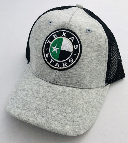 Gray Structured Mesh Trucker Cap Front
