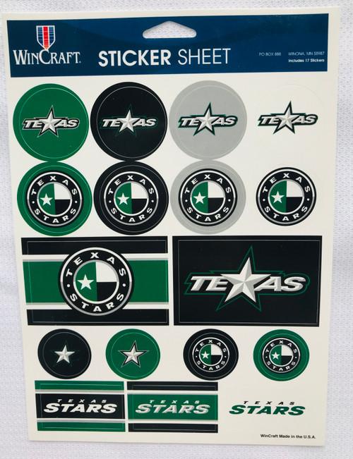 Texas Stars Sticker Sheet