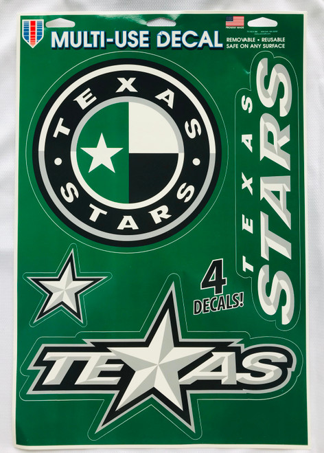 Texas Stars Decal Sheet