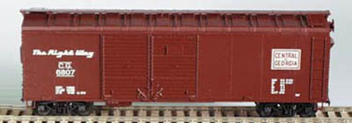 HO Bowser 40 Foot Box Car (Double Door) KIT Central of Georgia 3-1207