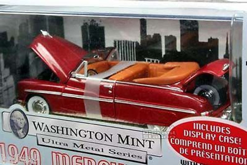 Washington Mint 1949 Mercury Convrt 1/24 scale Red Die-Cast Metal  OL 1