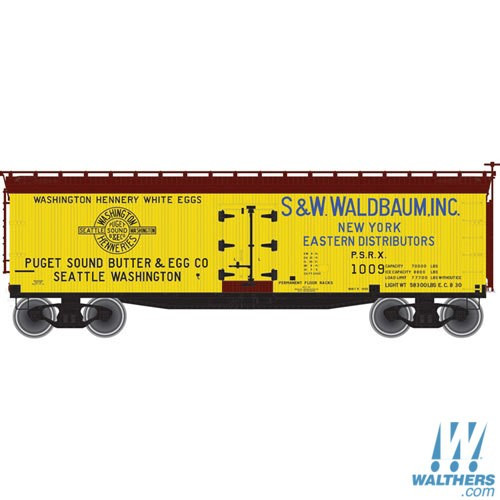 N Atlas 40' Wood Reefer Puget Sound Butter & Egg Co. PSRX 50002236 OL 1