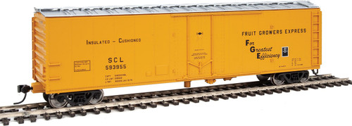 HO Scale 50' PC&F Insulated Boxcar - Ready to Run -- Fruit Grower's Express SCL Road 593955