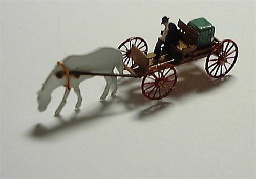 Buckboard, Driver & Horse