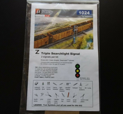 Z Scale Triple Searchlight Signal