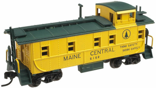 Atlas (Trainman) - N Scale - Cupola Caboose - Maine Central (MEC) #616 - Orange/Green