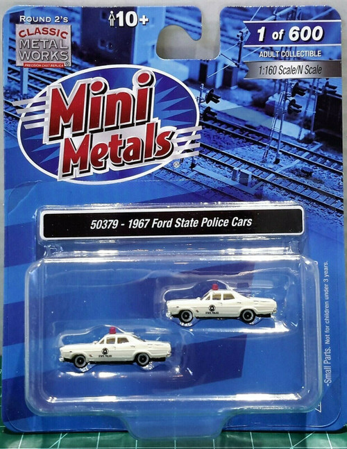 Classic Metal Works 1967 Ford State Police Cars Limited Run Item #50379