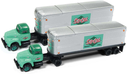 IH Tractor/ Trailer Set SoCal Freight 2 pack
