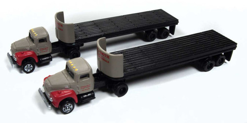 H R190 Tractor with Flatbed Trailer Set Breir & Smith Building Materials 2 pack