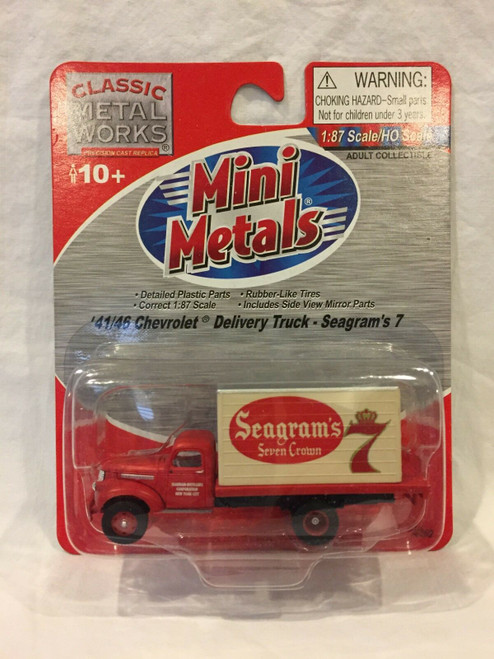Classic Metal Works 30362 HO Scale 41/46 Chevrolet Delivery Truck Seagram's 7