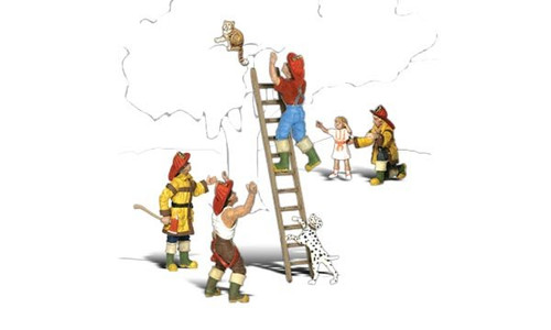 Woodland Scenic N  - Firemen to the Rescue
