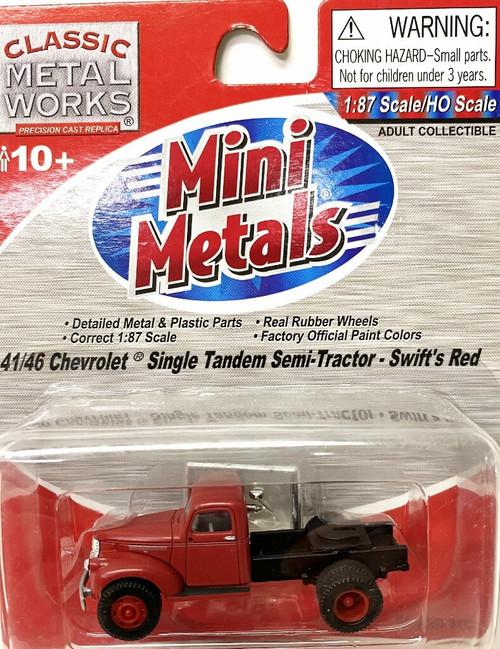HO Classic Metal Works #31154 '41-'46 Single Tandem Semi Tractor -Swift Red