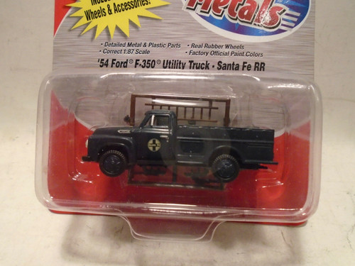 HO Classic Metal Works 1954 Ford F350 Hy-Rail Utility Truck - Santa Fe RR