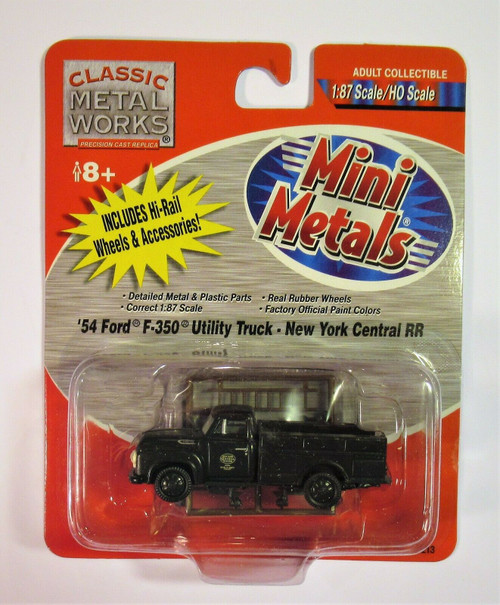 HO Classic Metal Works 1954 Ford F350 Hy-Rail Utility Truck - New York Central RR