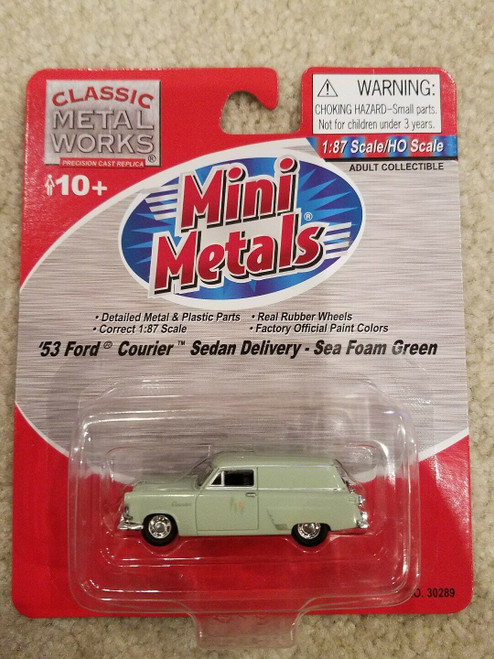Classic Metal Works 30289 HO '53 Ford Courier Sedan Delivery Sea Foam Green