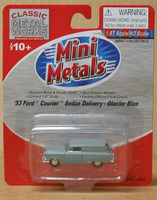 Classic Metal Works 30290 HO '53 Ford Courier Sedan Delivery Glacier Blue