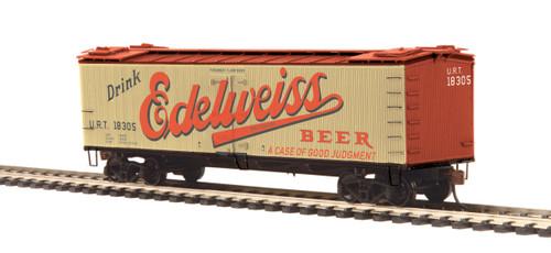 MTH HO Edelweiss Beer R-40-2 Woodside Reefer  #18305
