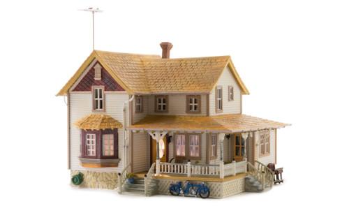 Woodland Scenic HO Corner Porch House