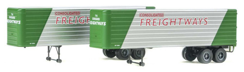 Walthers Scene Master HO 35' Trailer Consolidated Freightways 2 pk