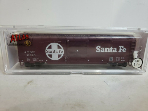 Atlas TM 50' Single Door Box Car Santa Fe #11313